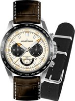 Jacques Lemans Men's 1-1756B Liverpool Sport Analog Black Leather Strap Watch