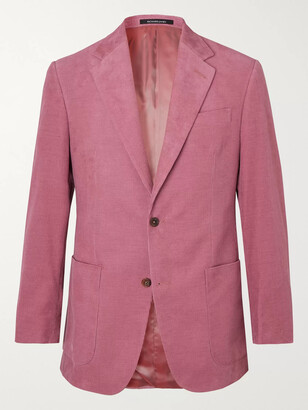 Richard James Stone Slim-Fit Cotton-Corduroy Suit Jacket - Men - Pink
