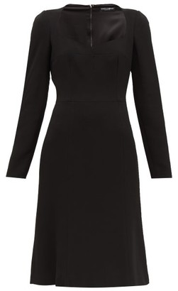 Dolce & Gabbana Sweetheart-neckline Crepe Dress - Black
