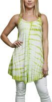 Neon Green Tie-Dye Stripe Sleeveless Tunic