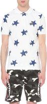 A Bathing Ape Star-print Cotton-piqué Polo Shirt