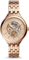 Fossil Suitor Mechanical Rose Gold-Tone Stainless Steel Watch