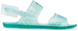 Off-White logo detail jelly sandals