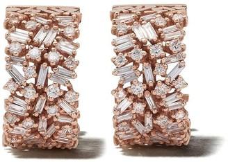 Suzanne Kalan 18kt rose gold huggie Firework earrings