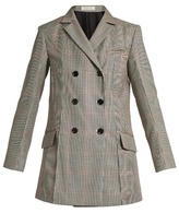Nina Ricci Double-breasted houndstooth wool oversized blazer