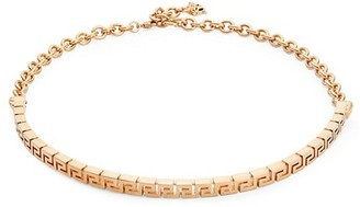Versace Greca Key Tribute Goldtone Choker Necklace