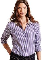 Lauren Ralph Lauren Petite Striped Stretch Cotton Button Down Shirt