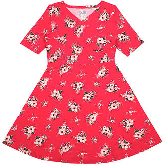 Aeropostale p.s. from Girls' Casual Dresses CORDK - Coral Floral Wrap Dress - Girls