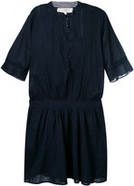 Vanessa Bruno short sleeve collarless shirt dress - women - Cotton - 36