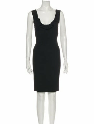 Donna Karan Scoop Neck Knee-Length Dress w/ Tags Black