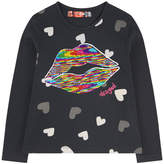 Desigual Graphic T-shirt with reversible sequins