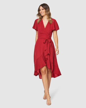 Pilgrim Women's Red Maxi dresses - Lorin Maxi Dress - Size One Size, 6 at The Iconic