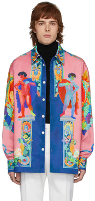Versace Multicolor Painting Shirt Jacket