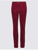 Per Una Cotton Rich Straight Leg Trousers