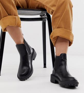 Raid Wide Fit Radar black chunky chelsea boots