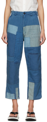 Blue Blue Japan Blue Sashiko Patchwork Jeans