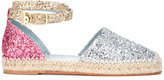 Chiara Ferragni metallic sequin espadrilles - women - Raffia/Leather/PVC - 35