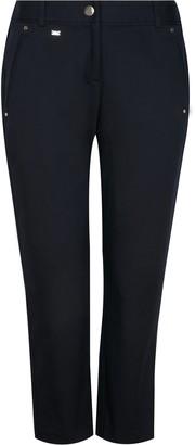 Wallis PETITE Navy Cotton Cropped Trouser