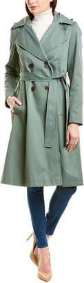 Via Spiga Belted Long Trench Coat