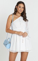 Showpo Andie One Shoulder Mini Dress in white - 6 (XS) The White Edit