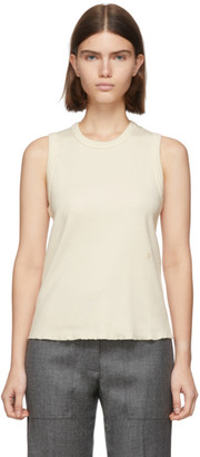 Helmut Lang Off-White Femme Shell Tank Top