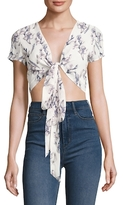 Lucca Couture Tie Wrap Crop Top
