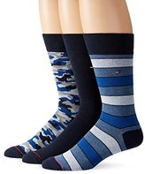 Tommy Hilfiger Men's 3 Pack Camo Crew Sock