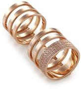 Repossi 'Berbère Module' diamond 18k rose gold six row linked ring