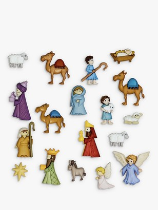 Dress It Up Nativity Themed Buttons, Pack of 18, Multi