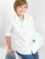 Gap Planet convertible shirt