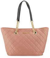 Calvin Klein Quilted Small Satchel Tote