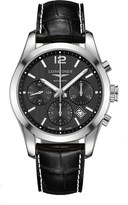 Longines L2.786.4.56.3 Conquest Classic stainless steel and leather chronograph watch