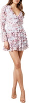 Bardot Lianna Floral Print Long Sleeve Minidress