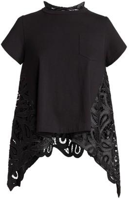 Sacai Paisley Lace T-Shirt