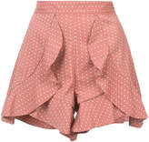 C/Meo polka-dot ruffle shorts