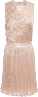 Carven Cutout Sequined Plisse Tulle Mini Dress