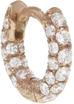 Maria Tash 5mm Five Row Diamond Pave Single Hoop Earring - Rose Gold