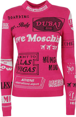 Love Moschino Patterned Technical Fabric Sweater