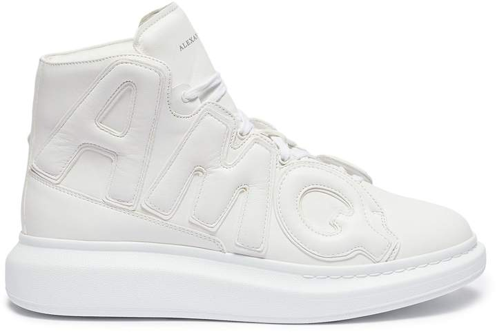Alexander McQueen Chunky outsole logo panel leather high top sneakers