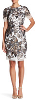 Alexia Admor Sequin Floral Midi Dress