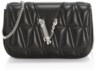 Versace Virtus Quilted Leather Clutch