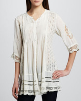 Johnny Was Collection Melody Button-Front Tunic, Women's