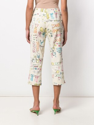 Moschino Pre-Owned 2000's Printed Trousers