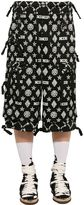 Kokon To Zai Monogram Print Cotton Gabardine Shorts