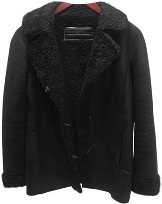 Armani Jeans Black Faux fur Coat for Women