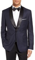 JB Britches Classic Fit Dot Wool Dinner Jacket