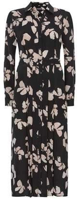Mint Velvet Jessica Print Midi Shirt Dress