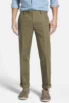 Bonobos Green Woven Regular Fit Single-Pleated Trouser - 30-34\
