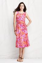 Lands' End Women's Petite Knit Keyhole A-line Dress
