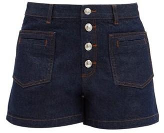 A.P.C. Marine High-rise Denim Shorts - Denim
